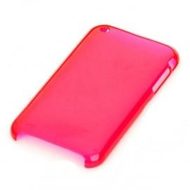 Ochranný zadný kryt pre iPhone 3G - priehľadná červená