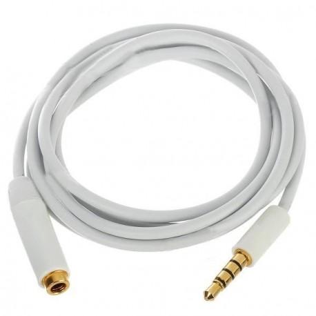 Audio predlžovací kábel iPhone 5 / 4 / 4S / 3 / iPad / iPod - biely