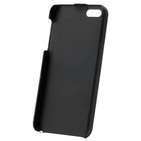 Ochranný hliníkový zadný kryt pre iPhone 5 čierno-strieborný