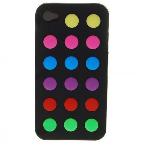 Ochranné silikónové puzdro pre iPhone 4 farebné bodky