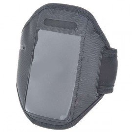 Neoprénové športové púzdro na rameno pre iPhone 4 - čierne