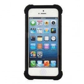 Ochranné púzdro silikón/plast pre iPhone 5 čierne