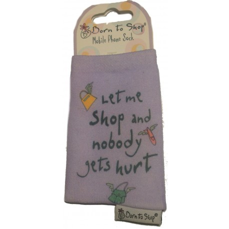 "Ponožka na mobil ""Born to Shop"""