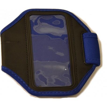 Modré športové púzdro na ruku pre iPhone 5 / iPhone 4 4S s dierou na slúchadlá