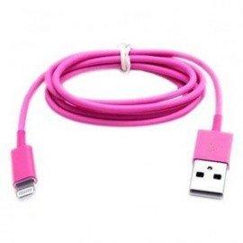 Kábel Lightning to USB 1m rúžový