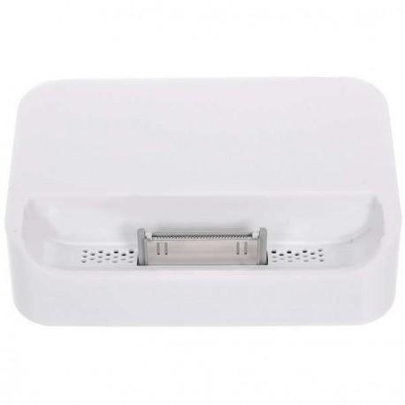 Nabíjacia dokovacia stanica s 3,5 mm Line Out pre iPhone 4 - biela