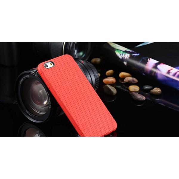 Červený silikónový zadný kryt pre iPhone 6/6S