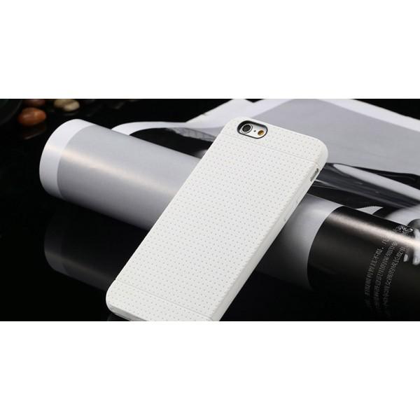 Biely silikónový zadný kryt pre iPhone 6 Plus