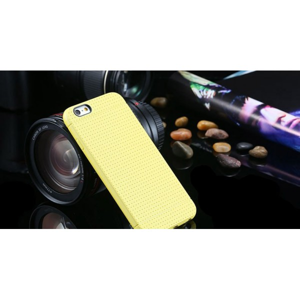 Žltý silikónový zadný kryt pre iPhone 6 Plus