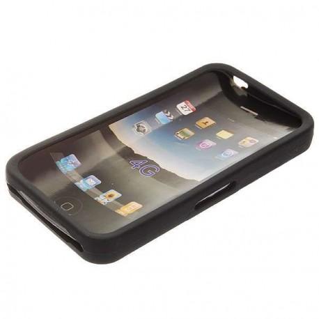 Ochranné silikónové puzdro pre Apple iPhone 4 - čierne