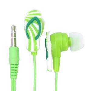 Štýlové slúchadlá v tvare papučky zelené