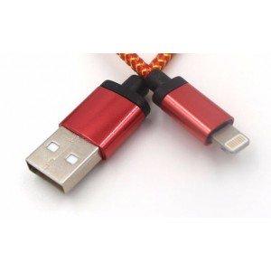 24cm kábel pre iPhone 6, 6s, 6 Plus, 5, 5s, 5C červený