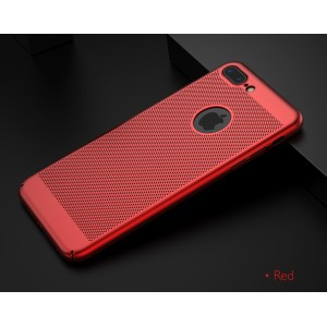iPhone X zadný MESH kryt červený