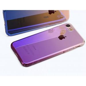 iPhone 7 zadný kryt Blue-ray gradient fialový