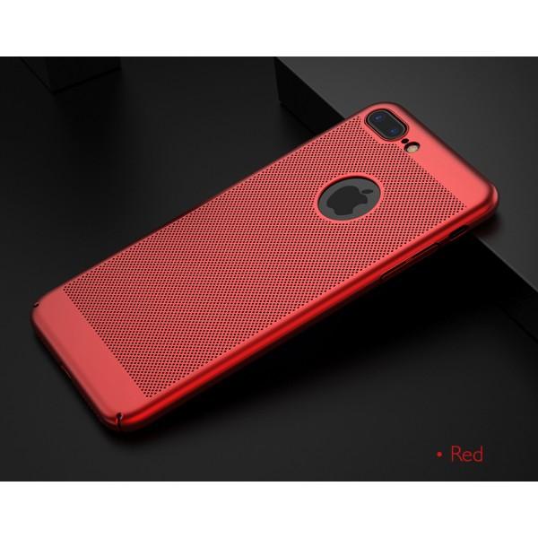iPhone 7/8 zadný MESH kryt červený