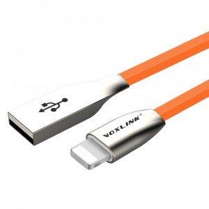 VOXLINK 3m USB / LIGHTNING oranžový kábel