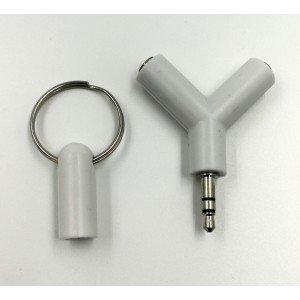 Rozdvojka na slúchatká 3.5mm Jack (biela)