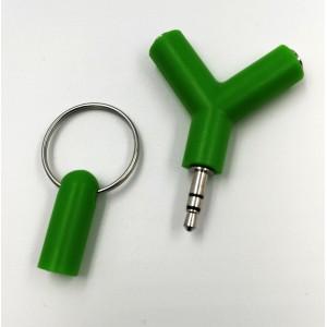 Rozdvojka na slúchatká 3.5mm Jack (zelená)