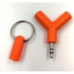 Rozdvojka na slúchatká 3.5mm Jack (oranžová)