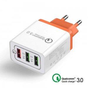 AR-QC-03 3 portový USB Quick Charge adaptér 18W