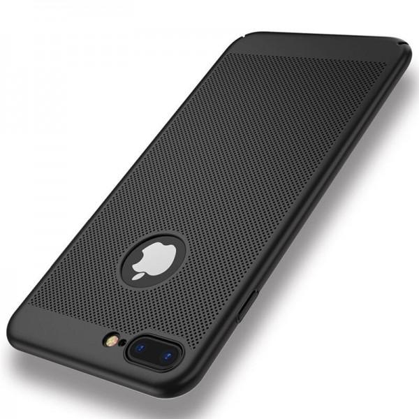 iPhone 7/8 zadný MESH kryt čierny