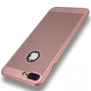 iPhone 7/8 zadný MESH kryt ružový