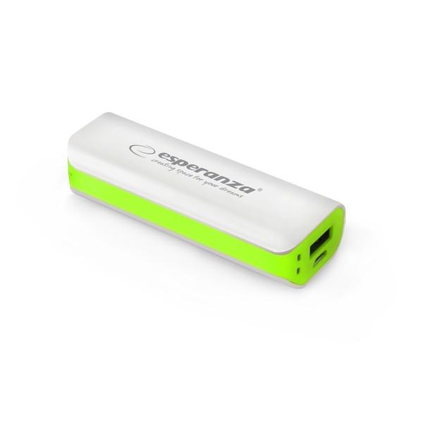 EMP103WG Power Banka 2200mAh bielo zelená Esperanza