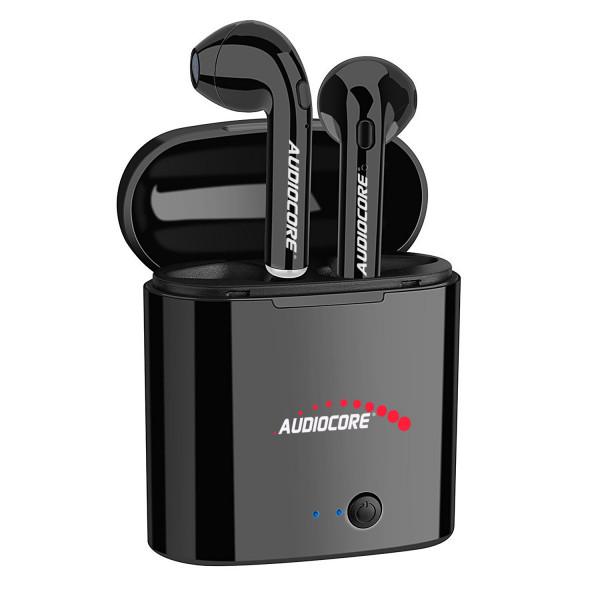 Bezdrôtové slúchadlá do uší s Bluetooth + stanica Audiocore AC520 B čierna TWS 5.0