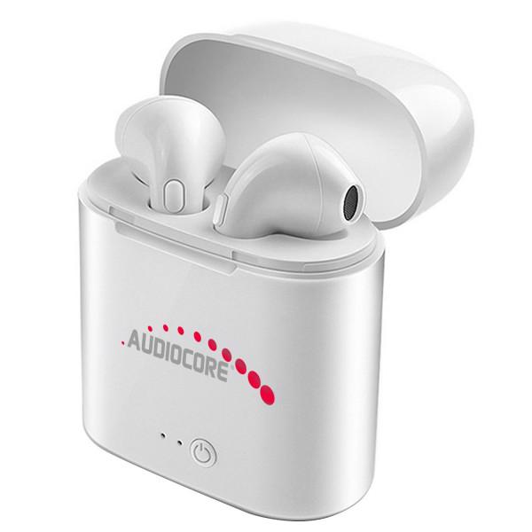 Bezdrôtové slúchadlá do uší s Bluetooth + stanica Audiocore AC520 W biela TWS 5.0