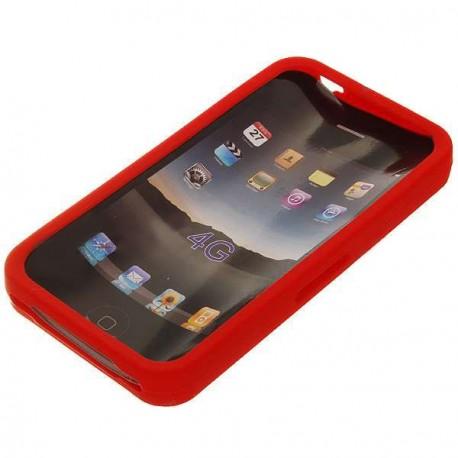 Ochranné silikónové puzdro pre iPhone 4 - červené