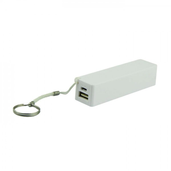 USB Power Banka na 1x 18650 batériu biela