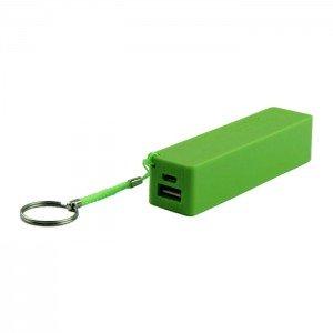 USB Power Banka na 1x 18650 batériu zelená