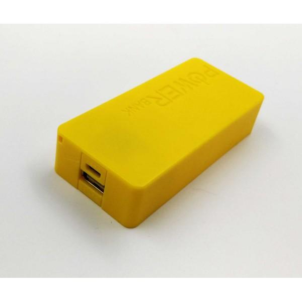 USB Power Banka na 2x 18650 batérie žltá
