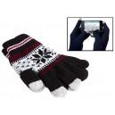 Čierne hviezdičkové dotykové rukavice