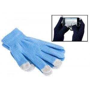 Modré dotykové rukavice