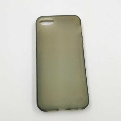 Ochranné silikónové púzdro pre iPhone 5 - priesvitné šedé