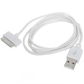 USB Data kábel pre iPhone 4 - biely