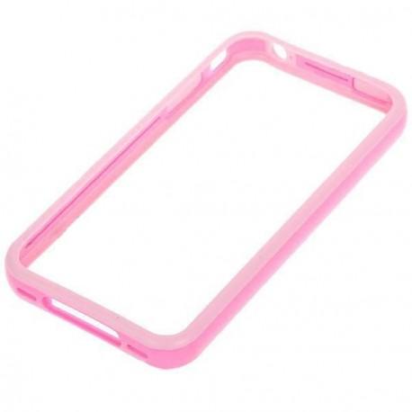 Štýlový Ochranný rám pre iPhone 4 - ružový