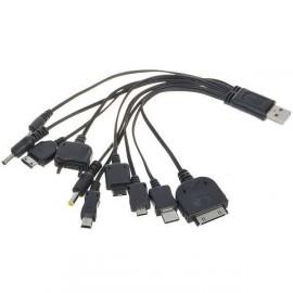10 v 1 USB napájací kábel pre iPod/PSP/Mobilné telefóny