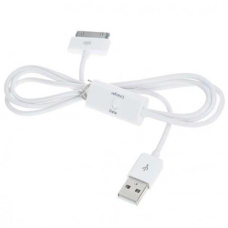 USB datový a nabíjací kábel pre iPod, iPhone 3GS, iPhone 4 1m