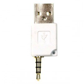 Mini USB dáta a nabíjací adaptér pre Shuffle-2 - biely