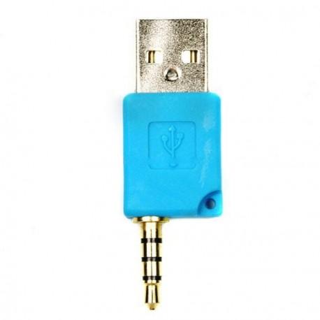 Mini USB dáta a nabíjací adaptér pre Shuffle-2 - modrý