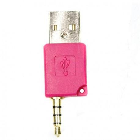 Mini USB dáta a nabíjací adaptér pre Shuffle-2 - ružový
