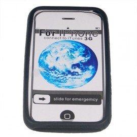 Silikónové ochranné púzdro pre Apple iPhone 3G - čierne