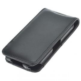 Ochranné puzdro pre iPhone 4 syntetická koža - čierna