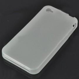 Ochranné silikónové puzdro pre iPhone 4 - priesvitná biela