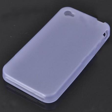 Ochranné silikónové puzdro pre iPhone 4 - priehľadná modrá