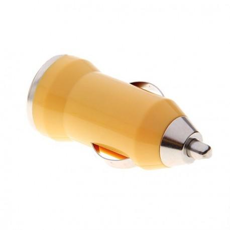 USB napájací adaptér autonabíjačka (žltá)