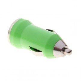USB napájací adaptér autonabíjačka (zelená)