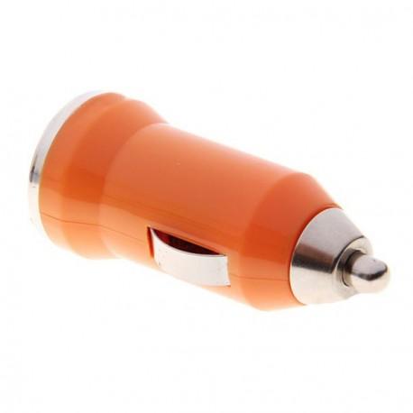 USB napájací adaptér autonabíjačka (oranžová)
